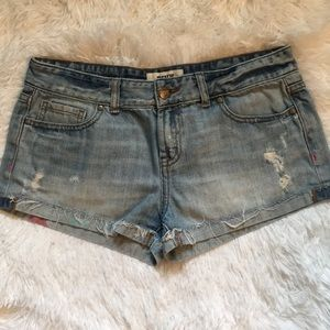 Pink jean shorts size 6